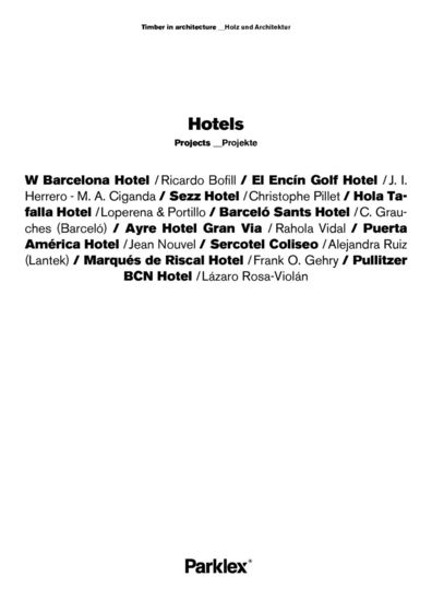 Hotels Projects 2014 (EN, DE)