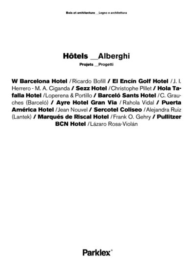 Hotels Projects 2014 (FR, IT)