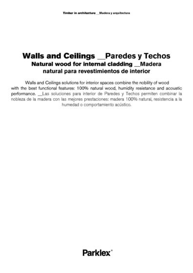 Walls and Ceilings 2014 (EN, ES)