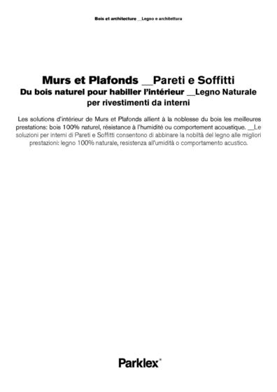 Murs et Plafonds 2014 (FR, IT)