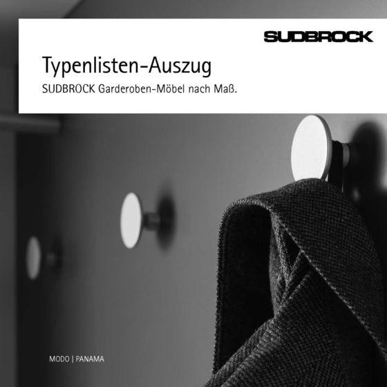 Planungsgarderoben Typenlisten-Auszug 2014
