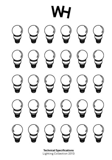 WH - Technical Specifications - Lighting Collection 2013