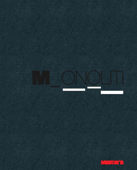 Monoliti Catalogue
