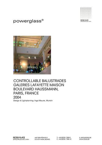 powerglass® Balustraden Galeries Lafayette