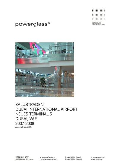 powerglass® Balustraden Dubai International Airport