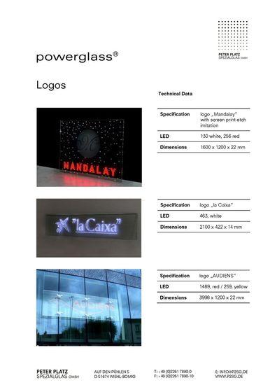 powerglass® Logos