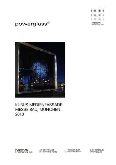 powerglass® Medienfassade Kubus