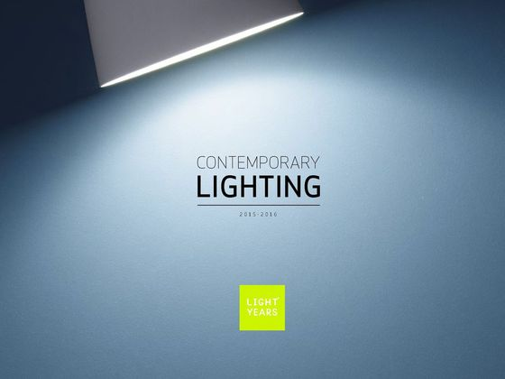Lichtyears Contemporary Lighting 2015-2016