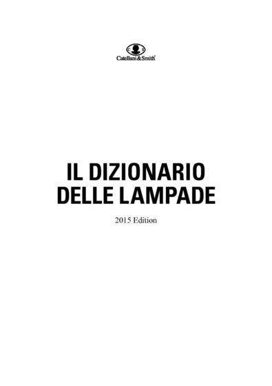 Il Dizionario delle Lampade 2015