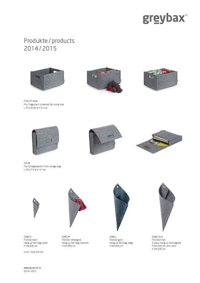Products 2014/2015