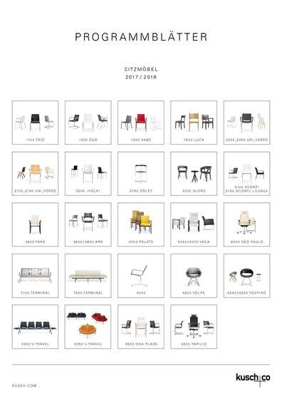 Kusch+Co Programmblätter Sitzmöbel 2017