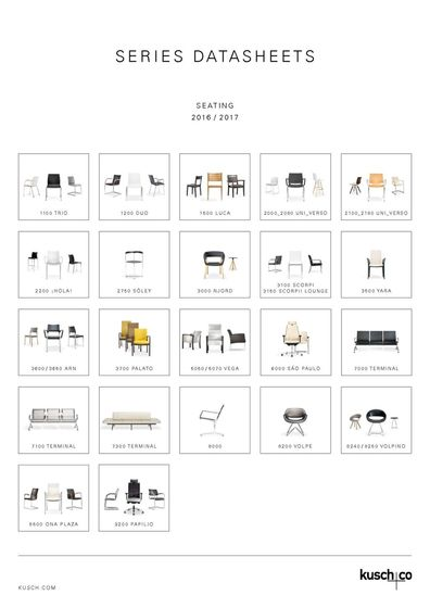 Series Datasheets Seating 2016 / 2017