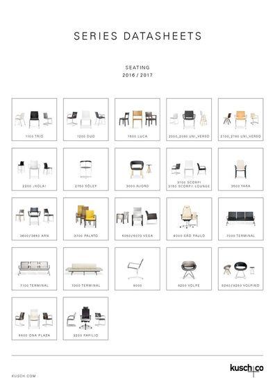 Series Datasheets Seating 2015 / 2016