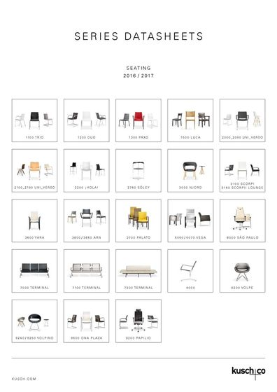 Kusch+Co Series Datasheets Seating 2016 / 2017