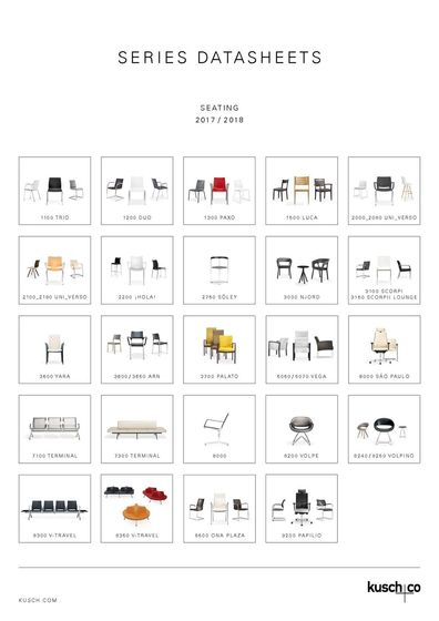 Kusch+Co Series Datasheets Seating 2017