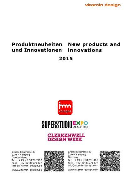 Produktneuheiten und Innovationen 2015