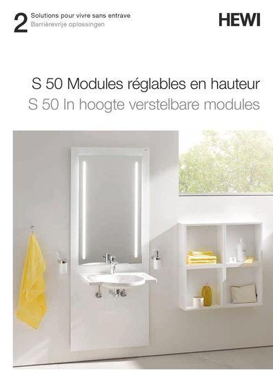 S 50 Modules réglables en hauteur