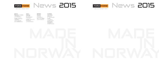Fora Form | News 2015