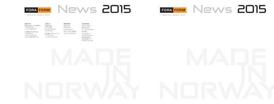 Fora Form | News 2015