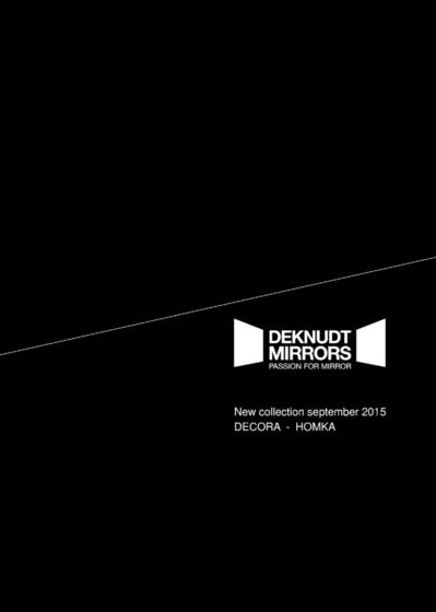 Deknudt Mirrors New Collection 2015 | Decora - Homka