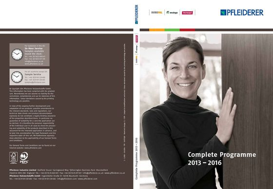 Pfleiderer Complete Programme 2013-2016