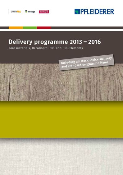 Delivery programme 2013 – 2016