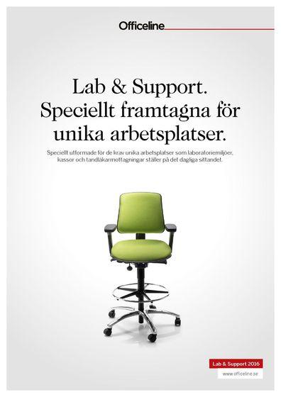 Officeline Lab & Support. Speciellt framtagna för unika arbetsplatser.