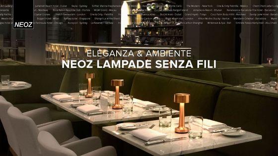 NEOZ cordless lamp brochure italien