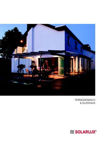 Solarlux Terrassendach und Glashaus