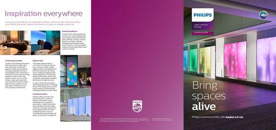 Philips luminous textile with Kvadrat Soft Cells