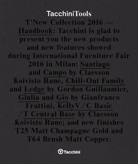 Tacchini Tools 2016
