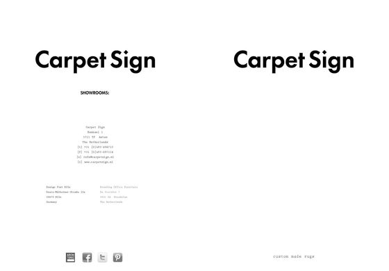 Carpet Sign Brochure 2016