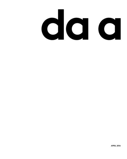 da a | catalogue 2016