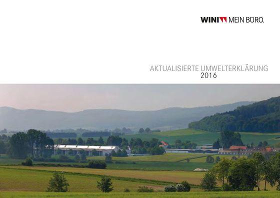 Wini Umwelterklärung 2016