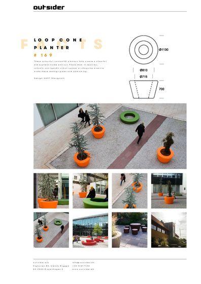 Loop Cone Planter #169