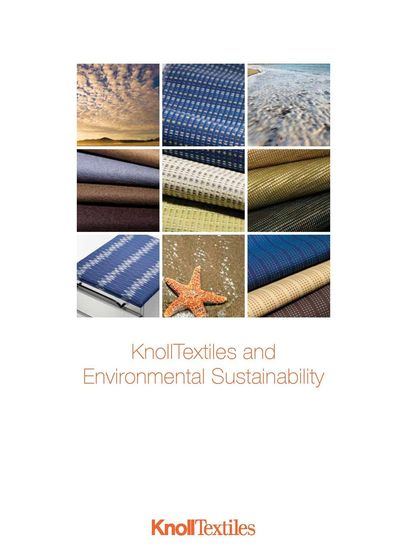 KnollTextiles Environmental Sustainability