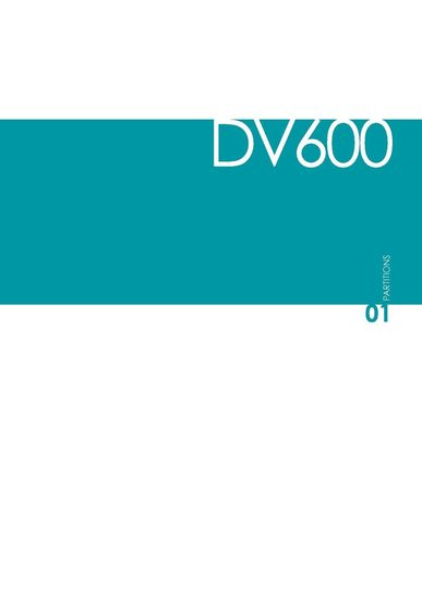 DVO Catalogue DV600-PARTITIONS