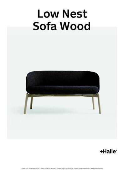 +Halle - Low Nest Sofa Wood