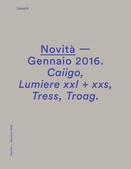 Foscarini News january 2016