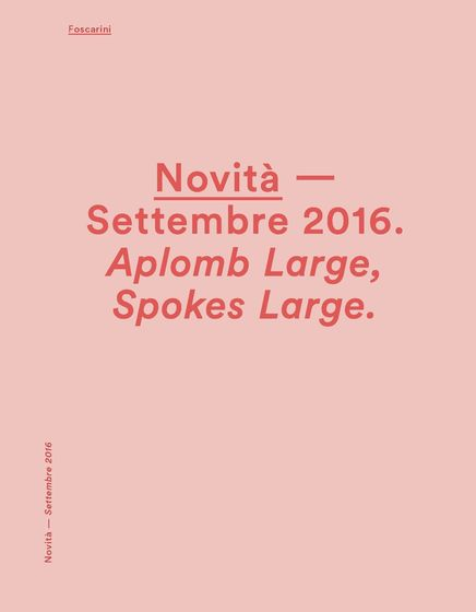 Foscarini News september 2016