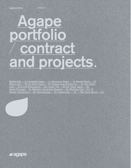 Agape portfolio | contract and projects | volume 1