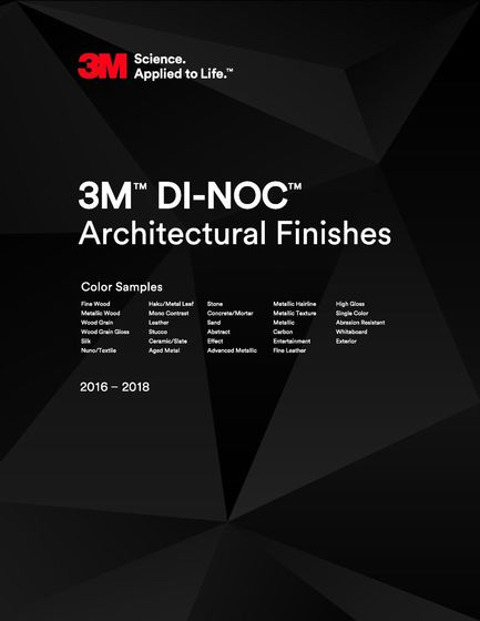 3M™ DI-NOC™ Architectural Finishes Sample Book 2016-2018