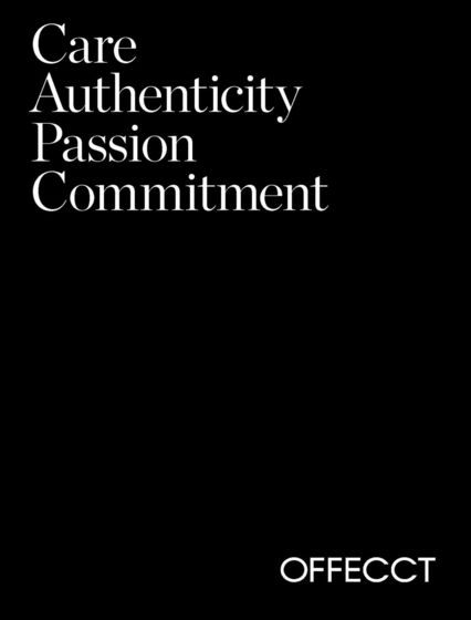 Offecct Authenticity Passion Commitment 2017