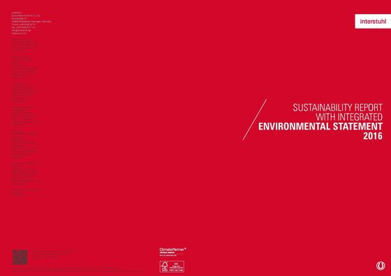 Sustainability report with integrated environmental statement 2016