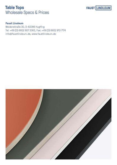 Linoleum Tischplatten