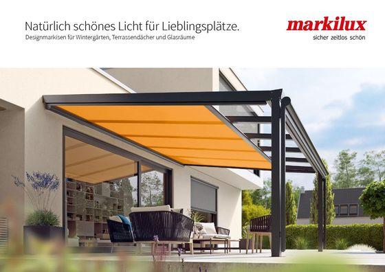 Designmarkisen für Wintergärten, Terrassendächer und Glasräume Broschüre
