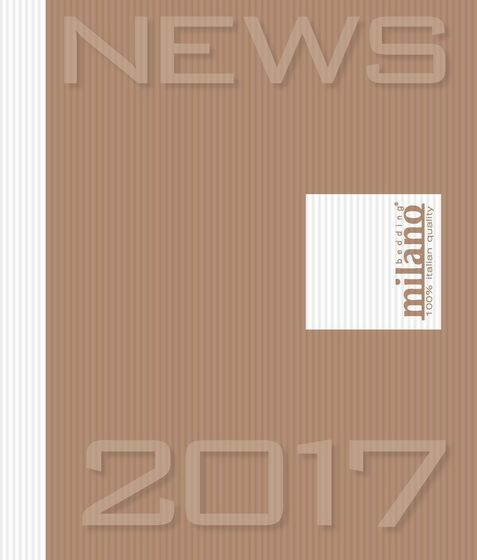 Milano Bedding Catalogue News 2017