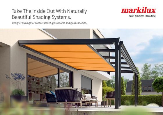 Designer Awnings For Conservatories Glass Rooms And Canopies