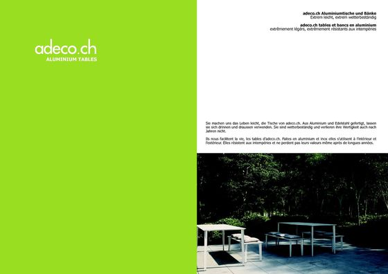 Brochure Aluminium Tables 2017