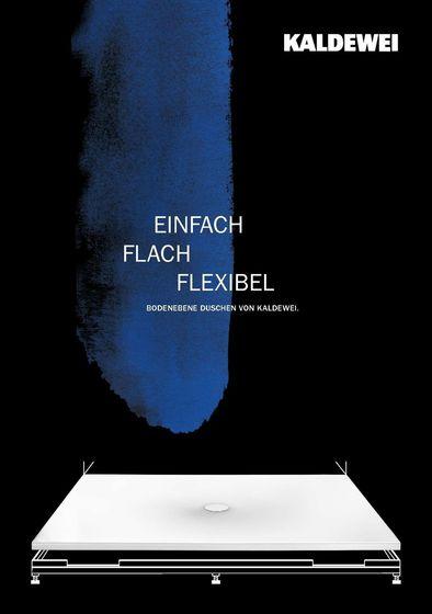 Einfach Flach Flexibel – Bodenebene Duschen von Kaldewei.